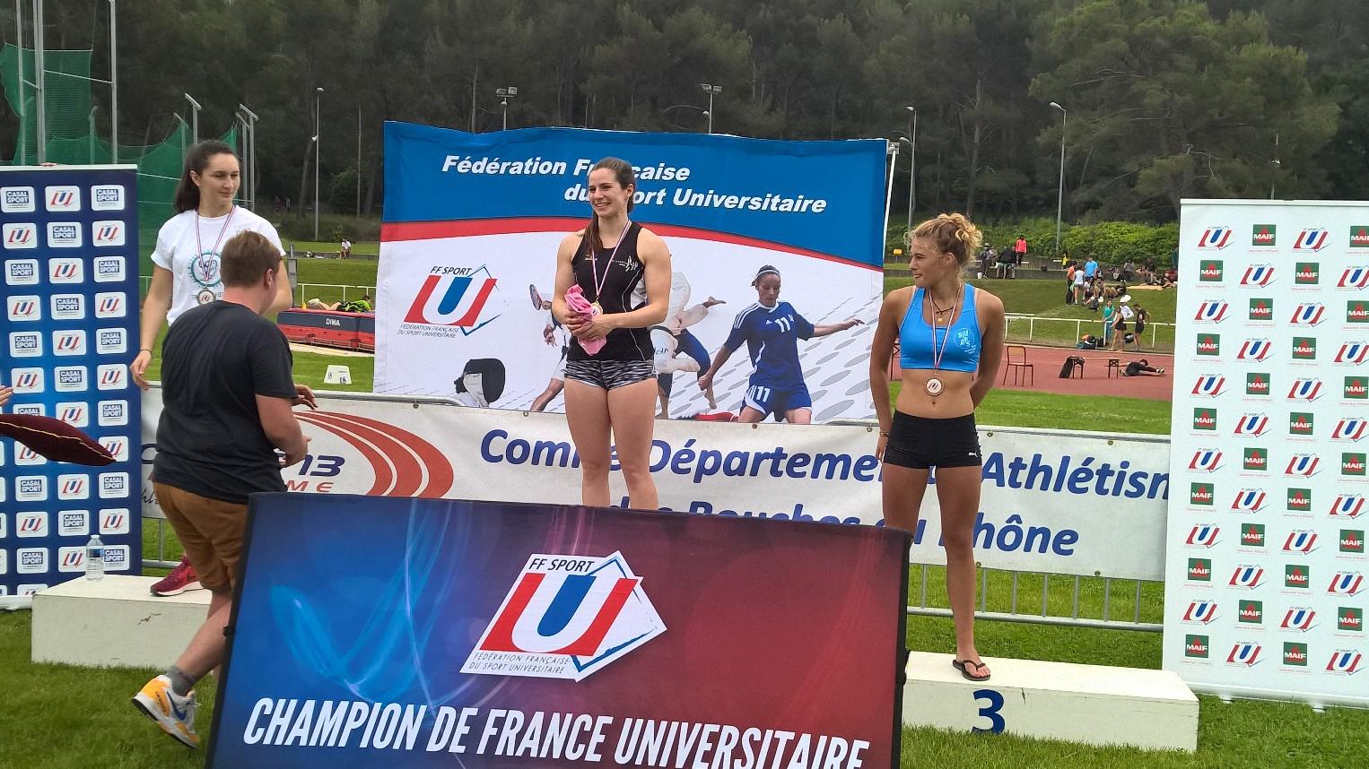 Exploit pour Adele Louis Championne de France Universitaire