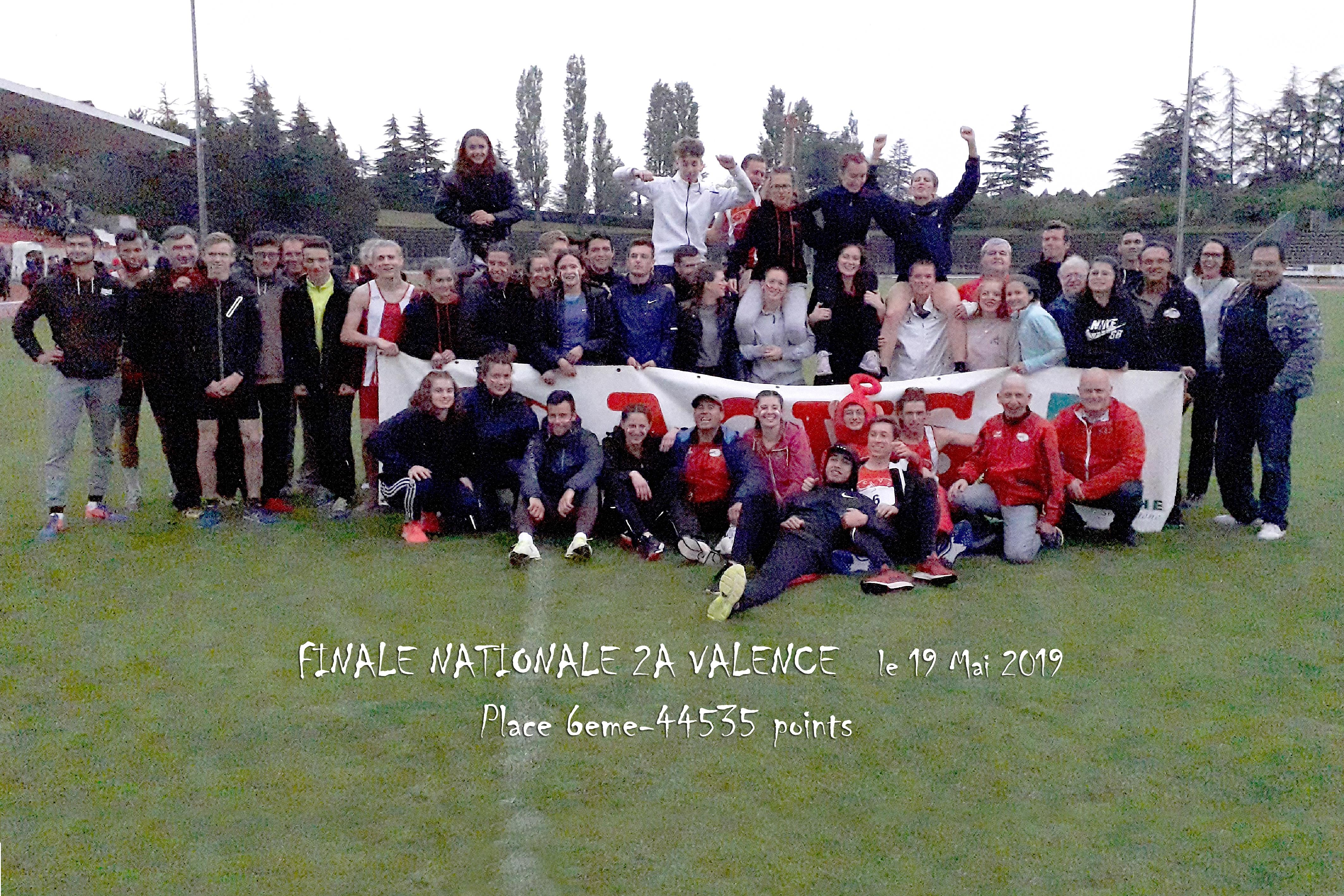 L'ACVS 6e de la Finale Nationale 2A