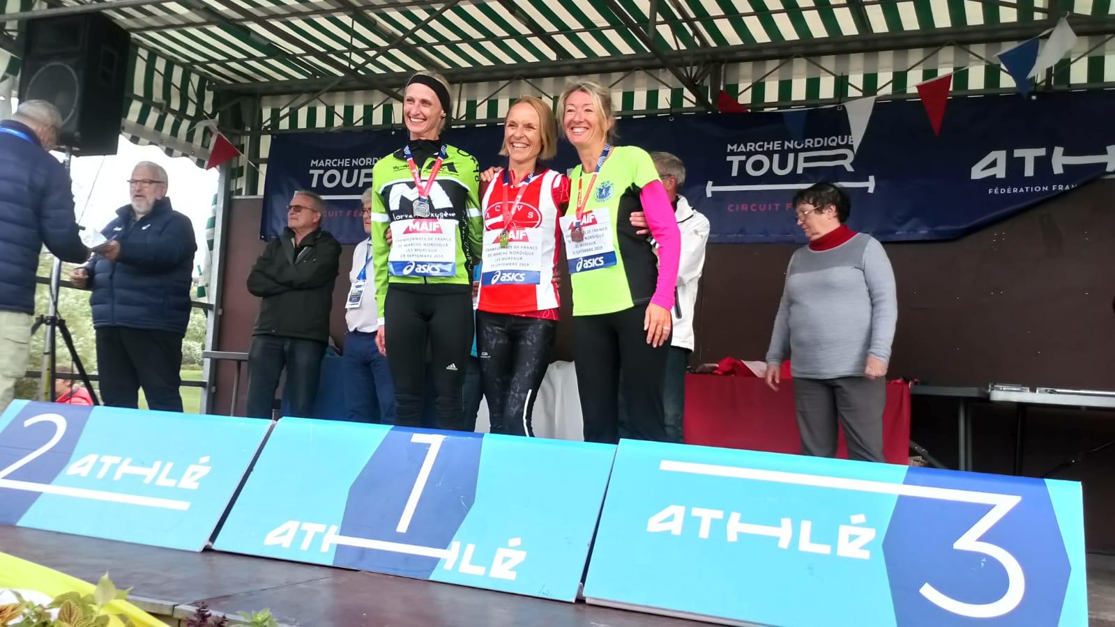 Élisabeth Valette Championne de France Master de Marche Nordique