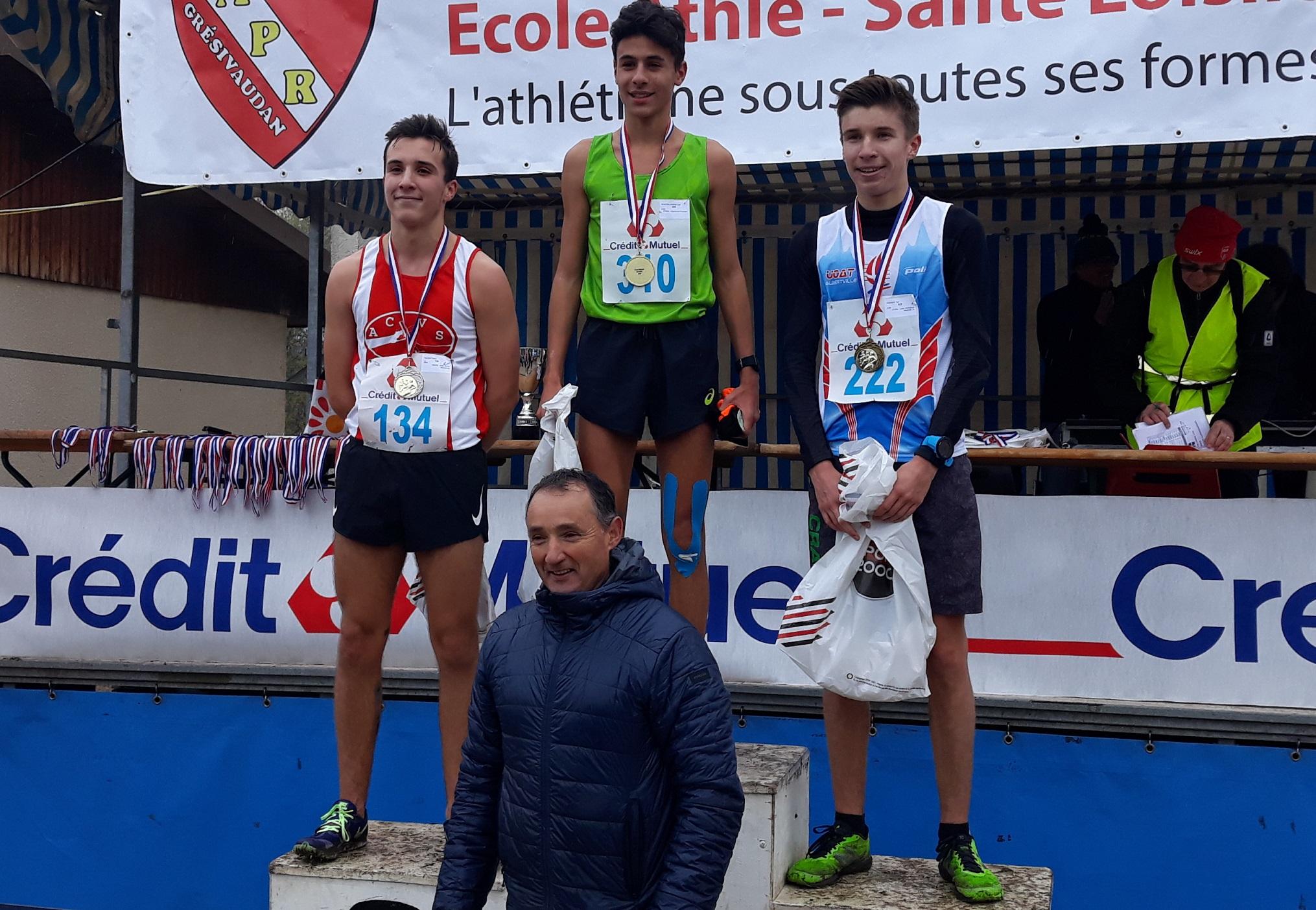 2 beaux podiums au Cross National de Pontcharra