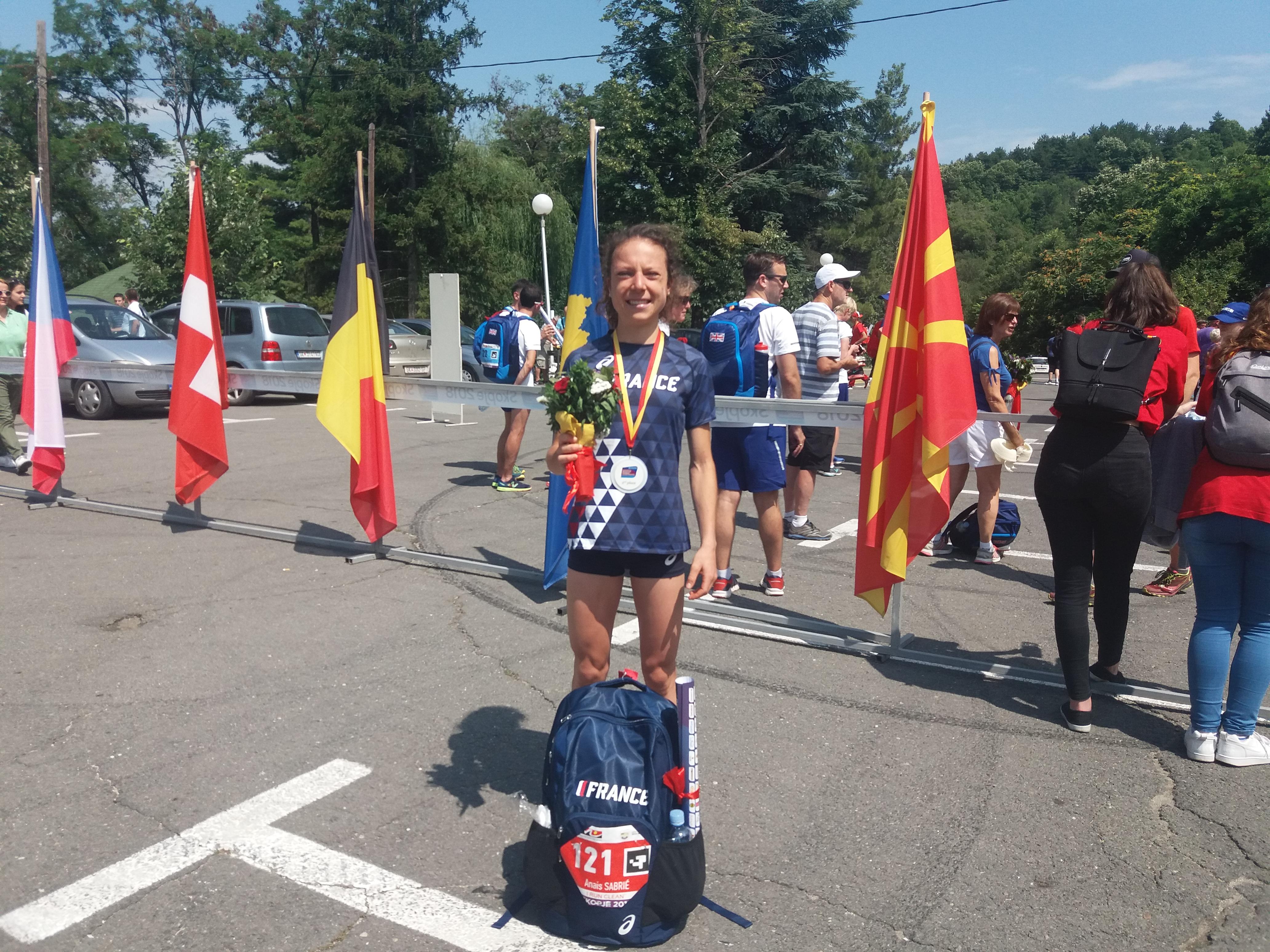 ENORME ! Anais Sabrie Médaille d'Argent aux Champ d'Europe