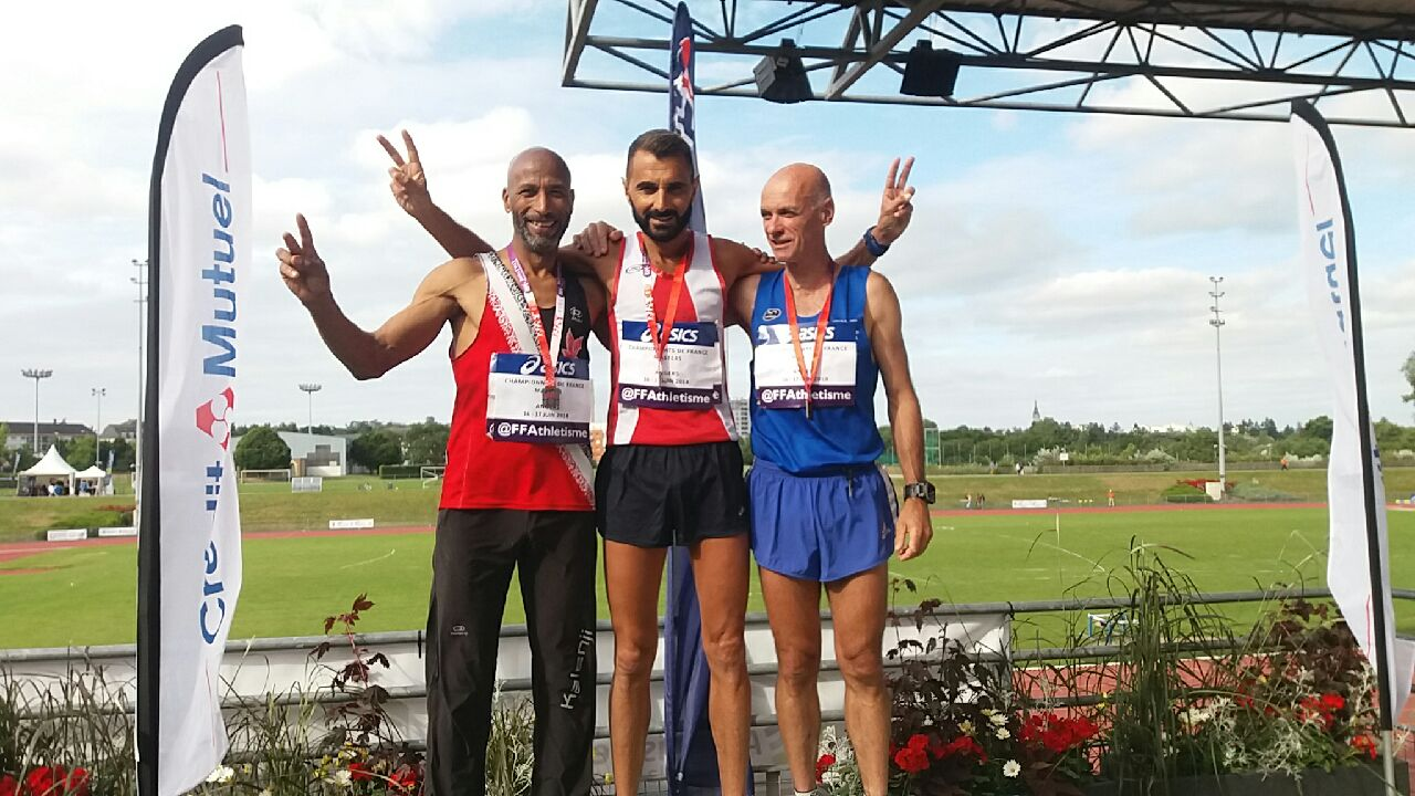 Patrick Chaunier Champion de France Master sur 1500m
