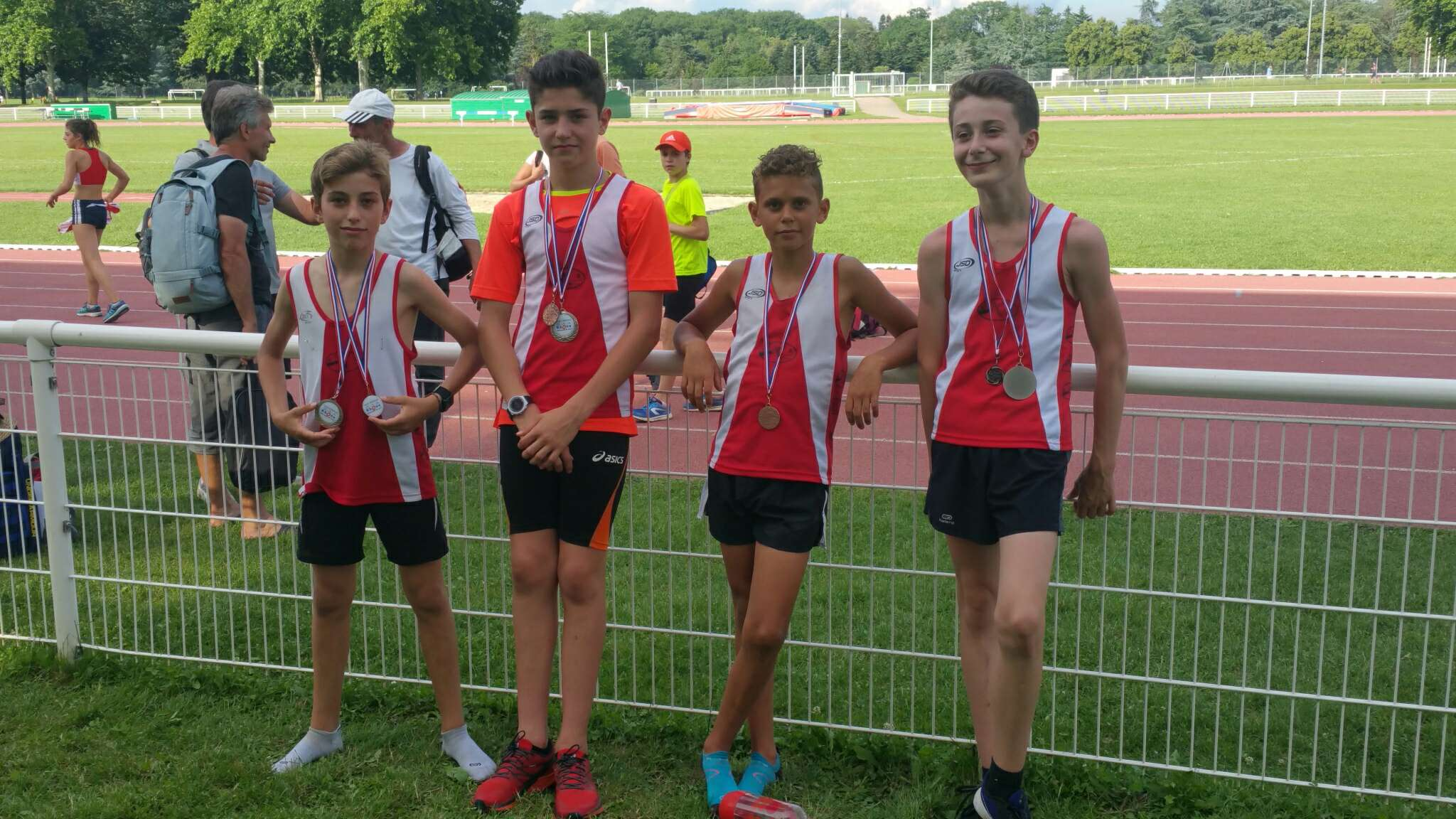 4 Podiums aux Champ du Rhône Benjamins