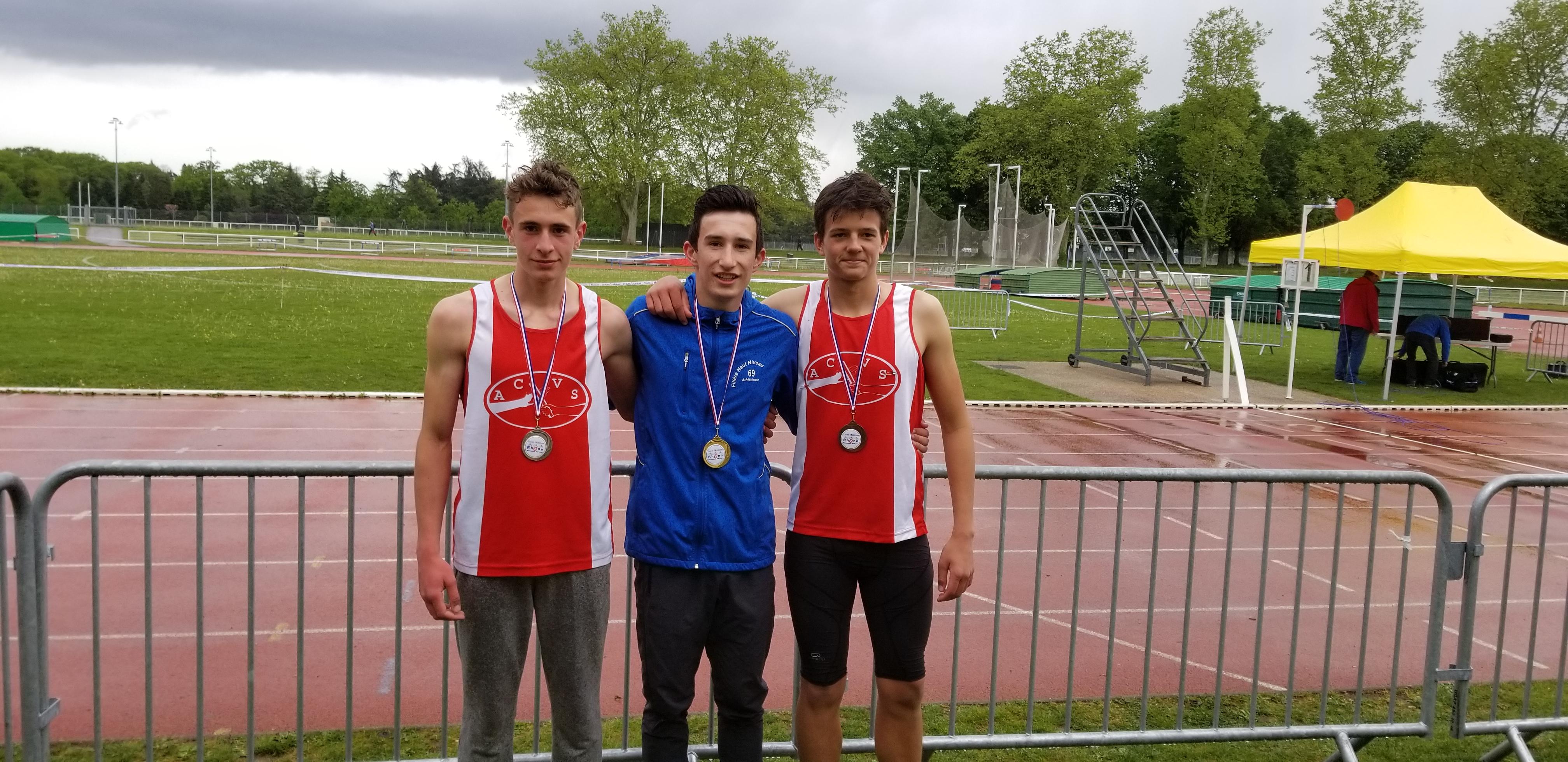 3 médailles aux Champ 69 d'Epreuves Combinées
