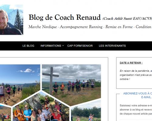 Nouveau Blog Santé / Running / Marche Nordique du Coach Renaud