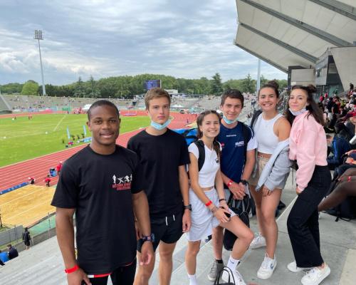 Bon comportement des athlètes pour le 1er jour du Championnats de France Jeunes